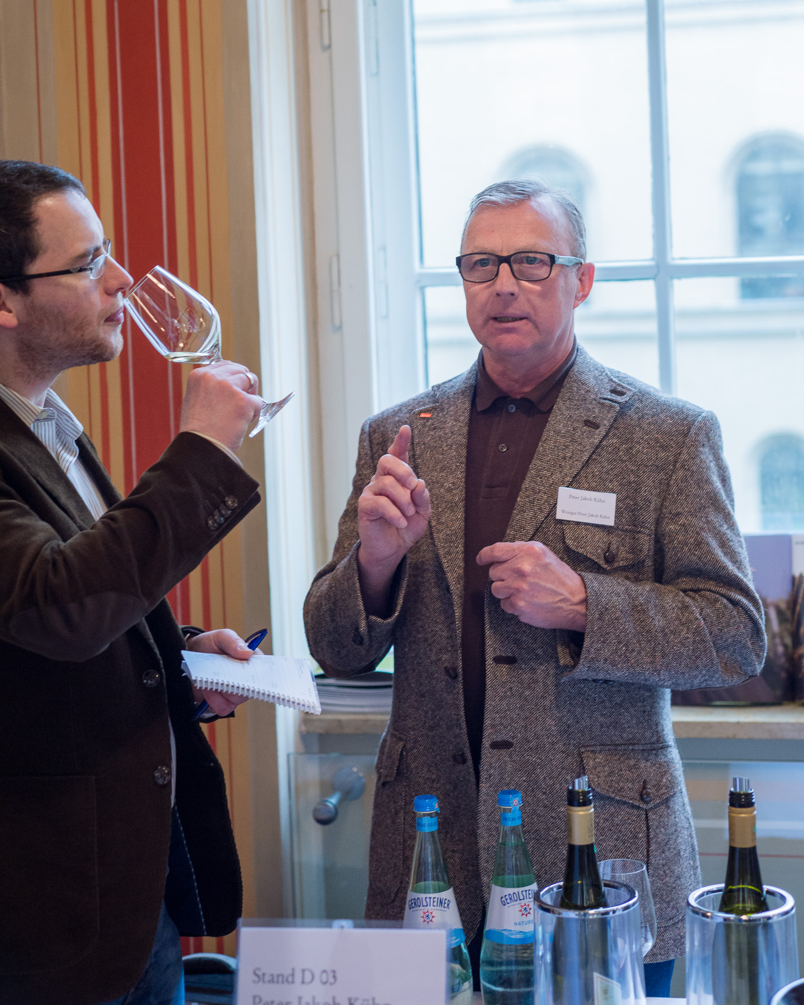 P.J. Kuehn teaching wine - a Rambler beginning to understand